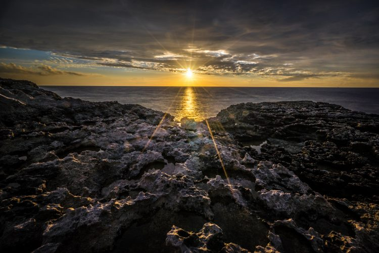 Sunset in Dwejra bay – Gozo, Malta – Seascape, travel photograph