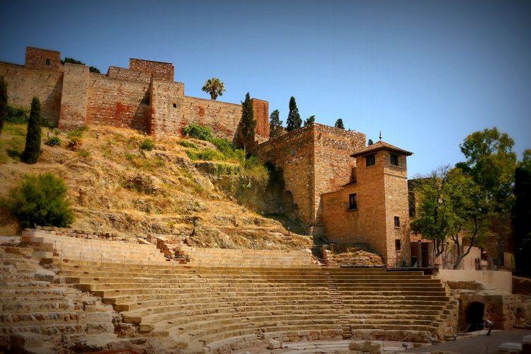 Amphitheater vor dem Alcazaba in Malaga